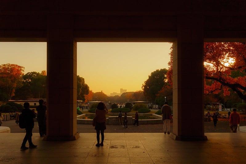 Coucher de soleil sur Ueno Park, Musée national de Tokyo