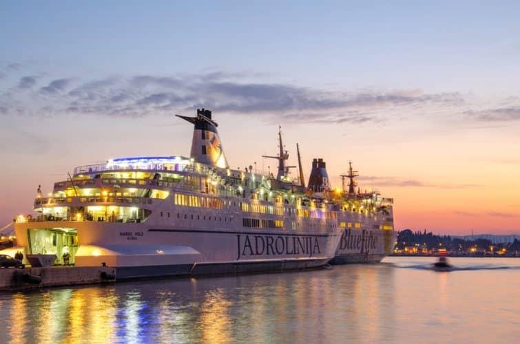 Ferry de la compagnie Jadrolinija à Split