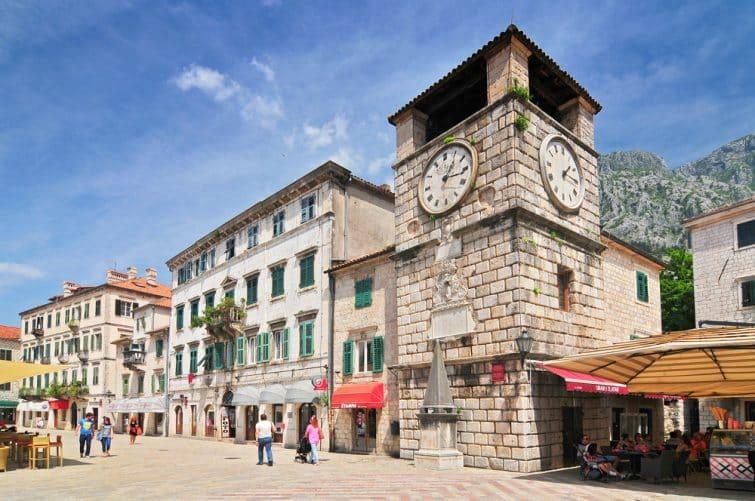 Tour de l'horloge, vieille ville de Kotor