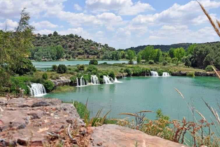 """vue sur le parc national espagnol """"Lagunas de Ruidera"""""""