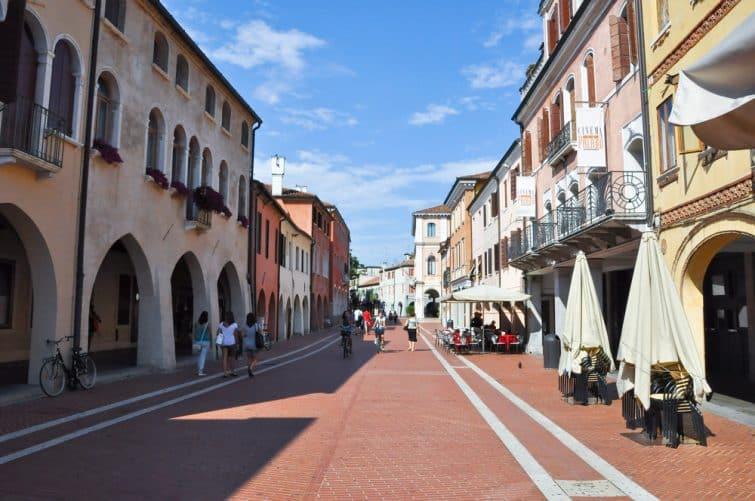 Rue à Mestre, Venise, Italie
