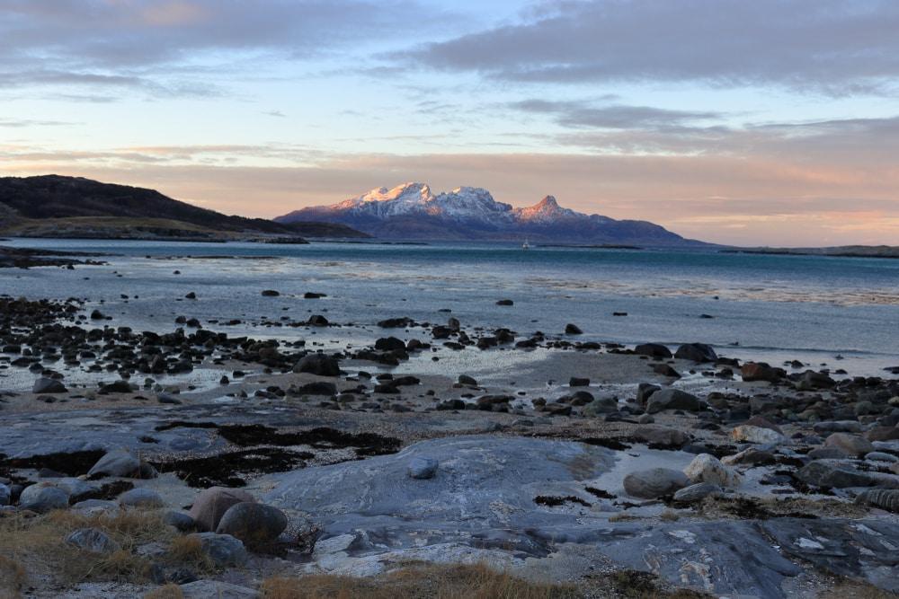Plage de Mjelle en Norvège