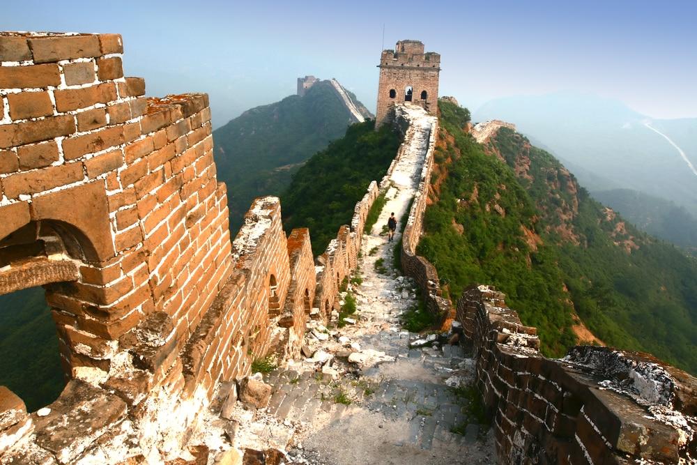 Intérieur de la Grande Muraille de Chine