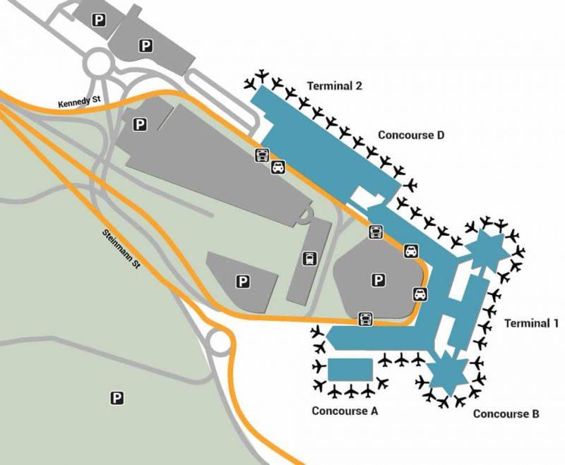 Plan des parkings à l'aéroport de Cologne