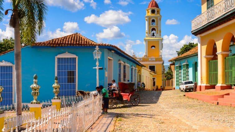 Centre-ville de Trinidad, bâtiments colorés, Cuba