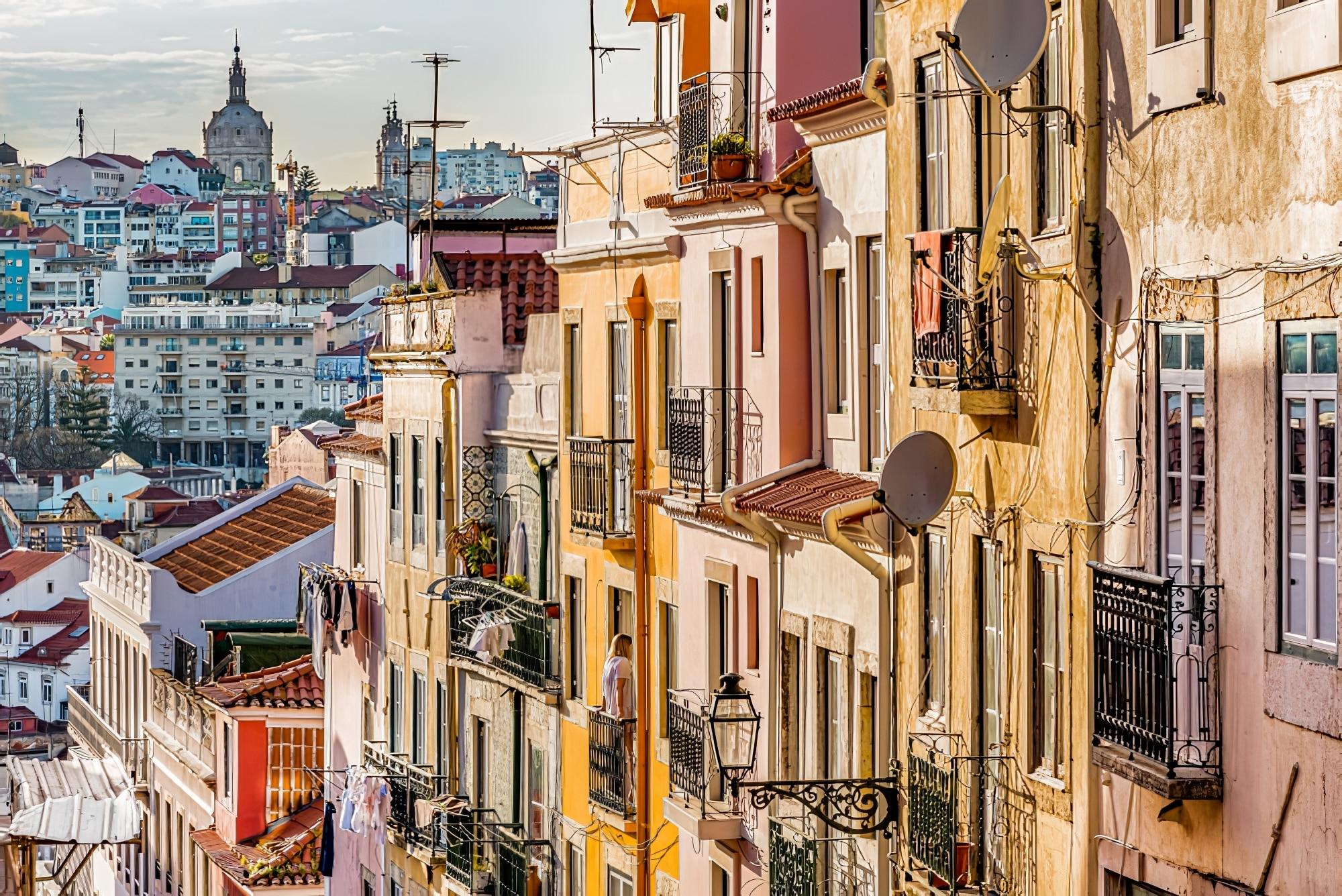 Panorama de la vieille ville de Lisbonne