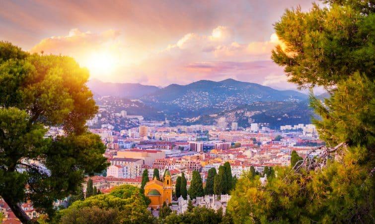 Coucher de soleil à Nice