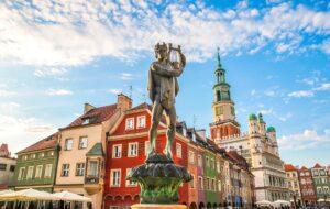 Statue d'Apollon à Poznan