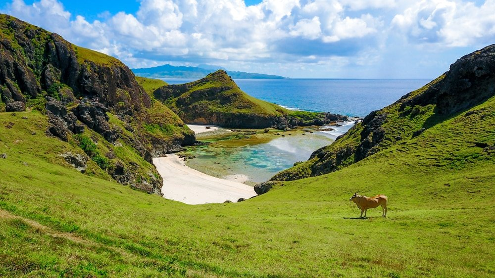 Plage à Batanes Islands, Philippines