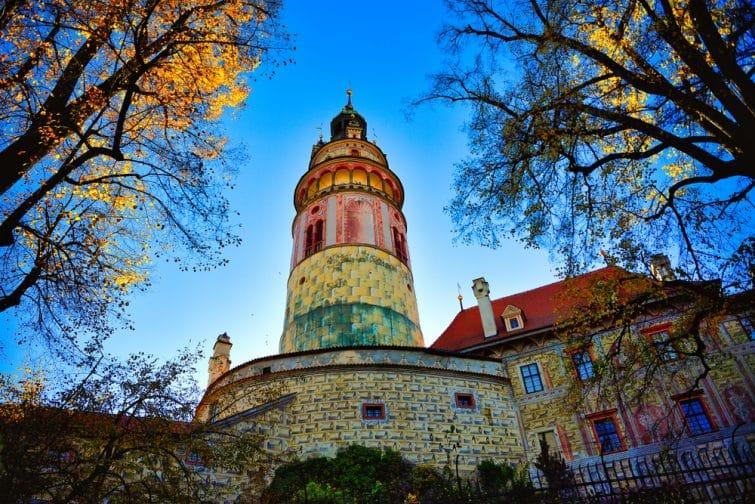Cesky Krumlov Castle Tower,