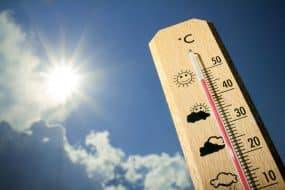 Chaleur estivale sur le thermomètre