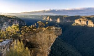Guetteur de roche, Blue Mountains, Australie