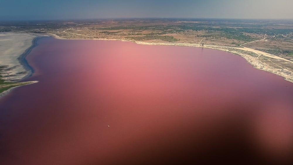 Lac rose, sénégal