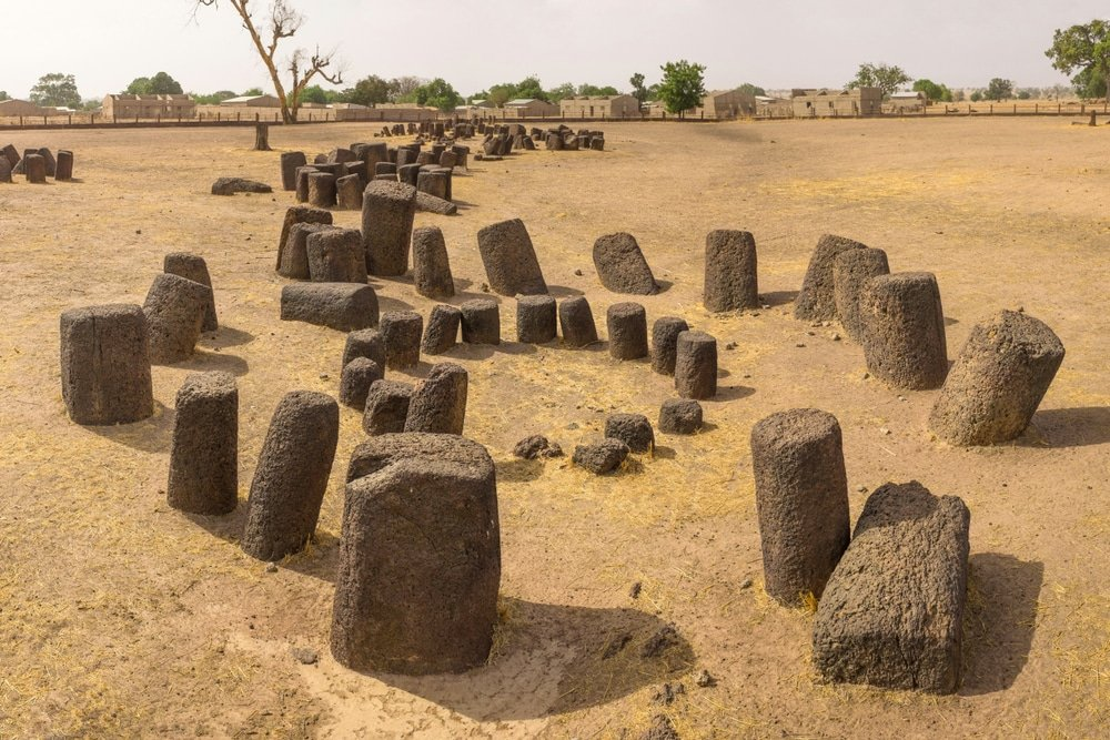 Les cercles mégalithiques, gambie