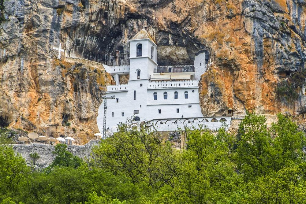 Monastère d'Ostrog, Montenegro, Europe.