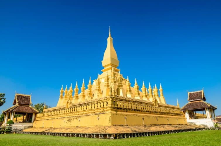 Pha That Luang Temple, La Pagode d'Or à VIENTIANE, LAOS PDR.