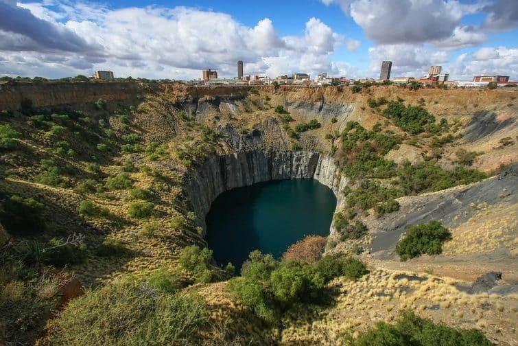 Site historique du patrimoine mondial de la mine de diamants Kimberly