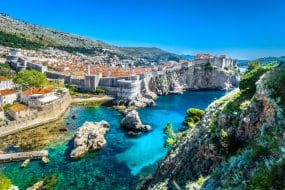 Vue aérienne de Dubrovnik