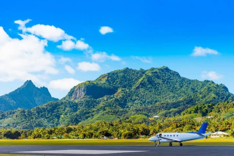 Avion à Aitutaki, Îles Cook