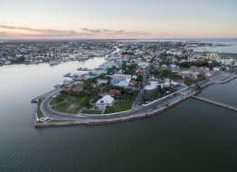 Panorama aérien de Belize City