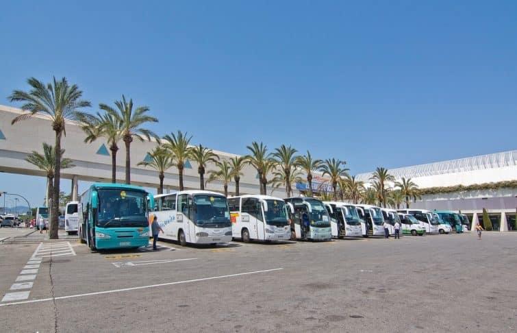 Bus à l'aéroport de Palma de Majorque