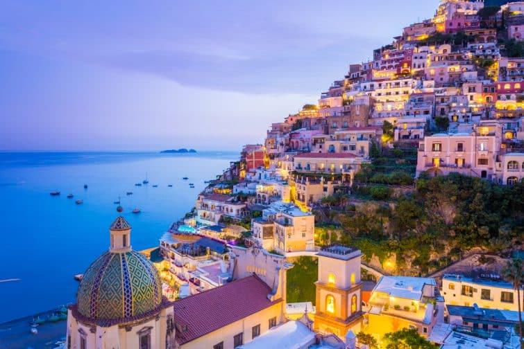 Sur la côte, à Amalfi, parfait pour visiter la Campanie