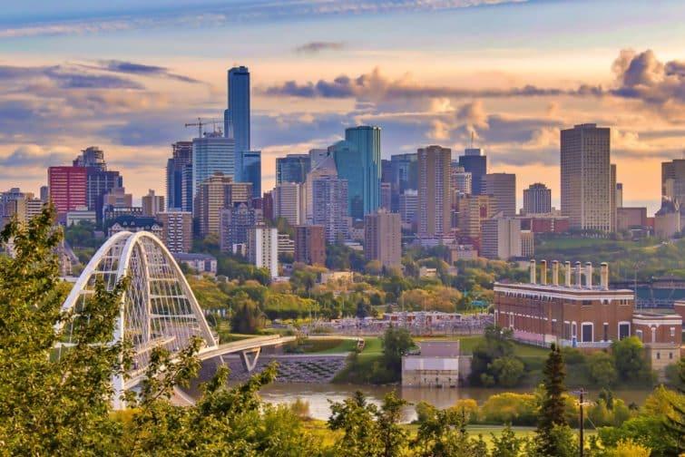 Skyline d'Edmonton