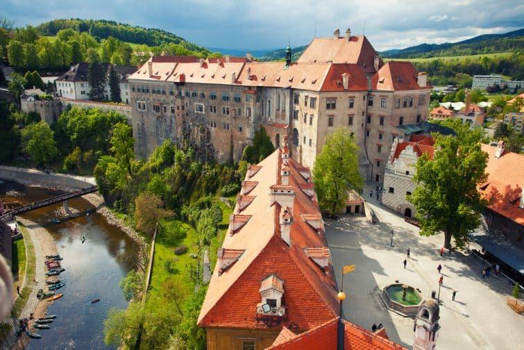 castle in Cesky Krumlov