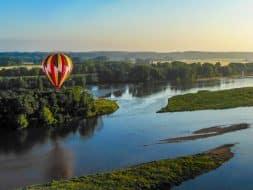 Ballon survolant la Loire