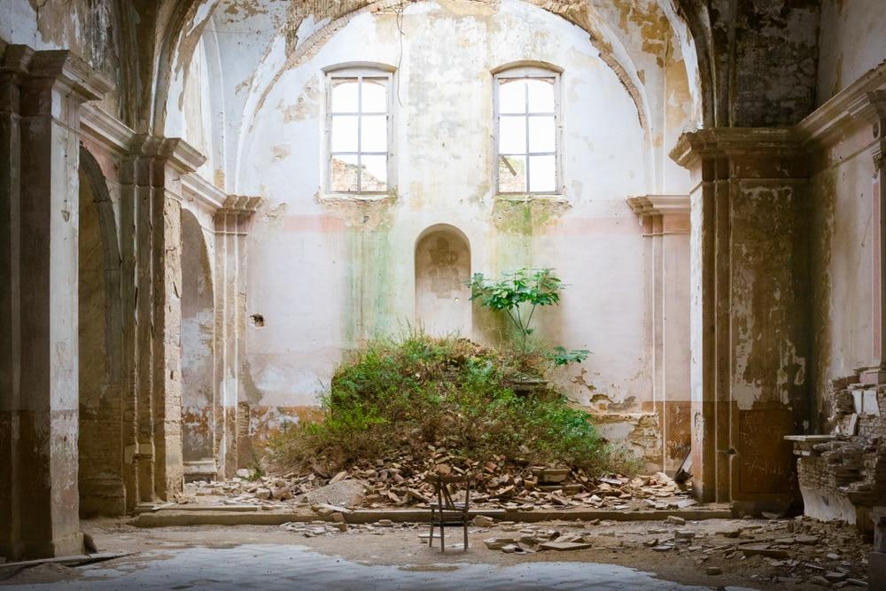 Maison abandonnée dans le village de Craco, Italie