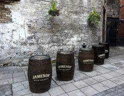Tonneaux de whisky Jameson, Distillerie Jameson Brow street à Dublin
