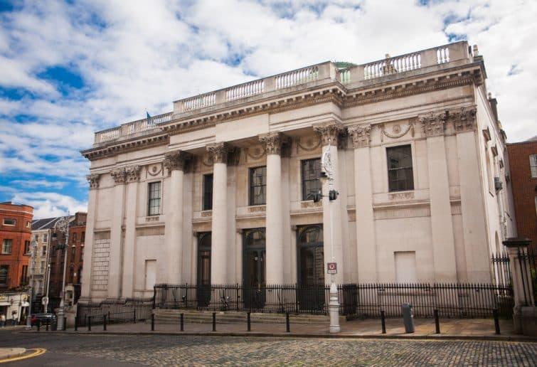 Entrée de la mairie de Dublin, Dublin City Hall