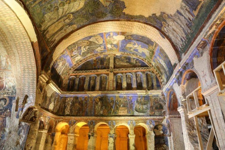 Intérieur de l'église Tokali, Cappadoce, Goreme, Turquie