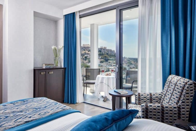 Chambre avec vue sur l'Acropole, Electra Metropolis, Athènes