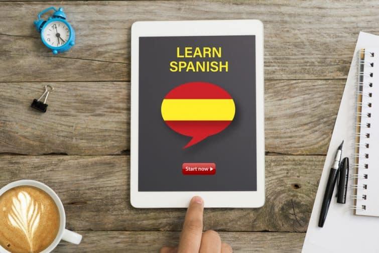 Apprendre l'espagnol avec une application