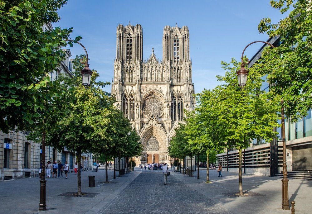 facade of the cathedrale of reims