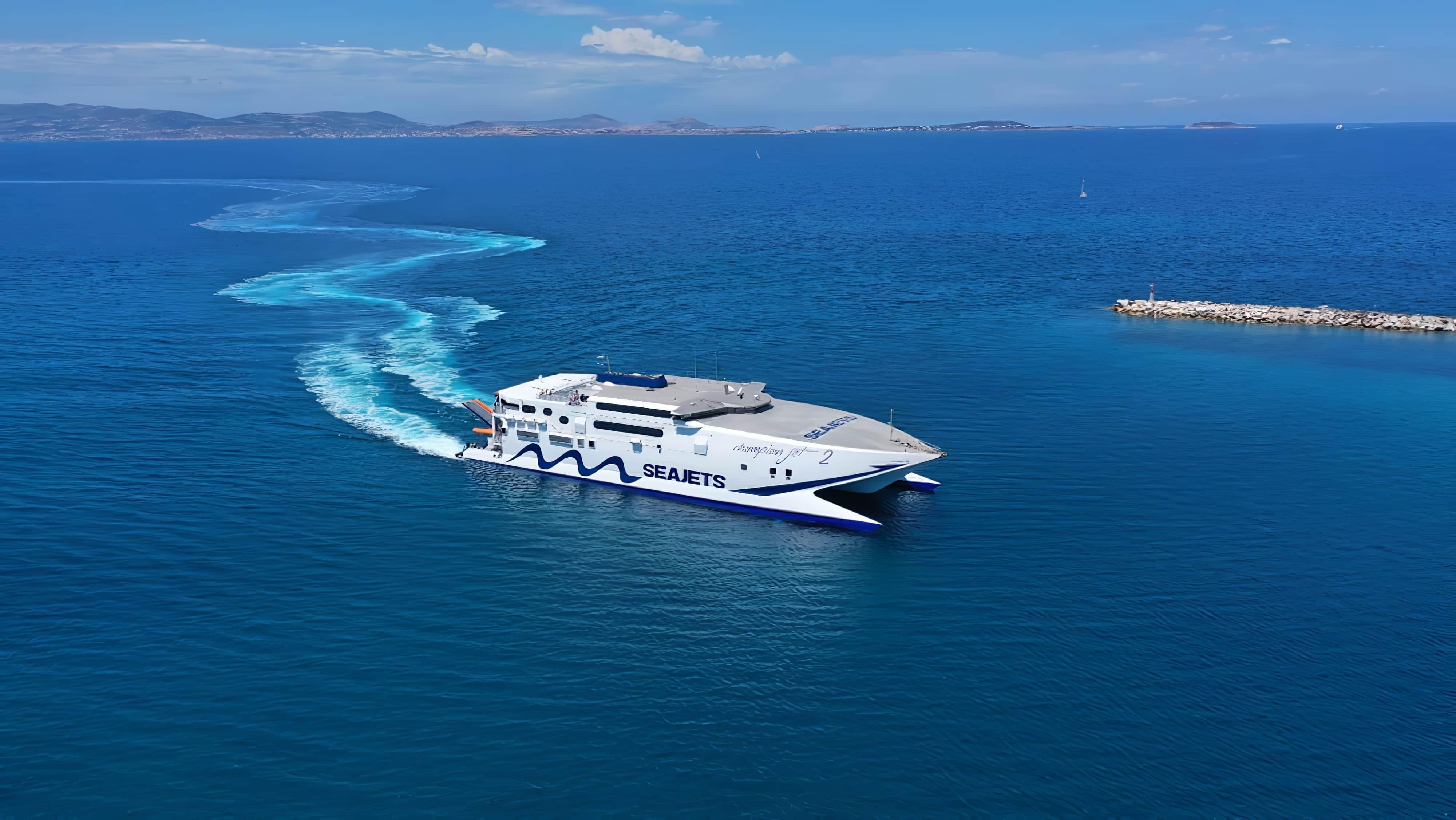 Ferry SeatJet dans la Mer Egée en Grèce