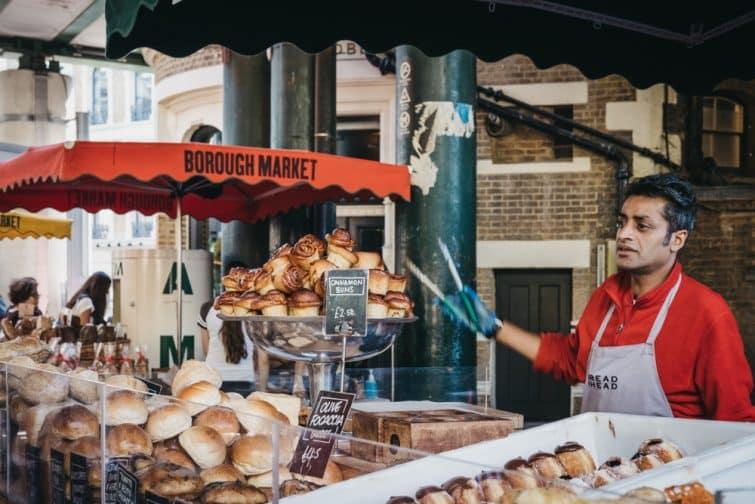 Stand de pâtisserie à Londres