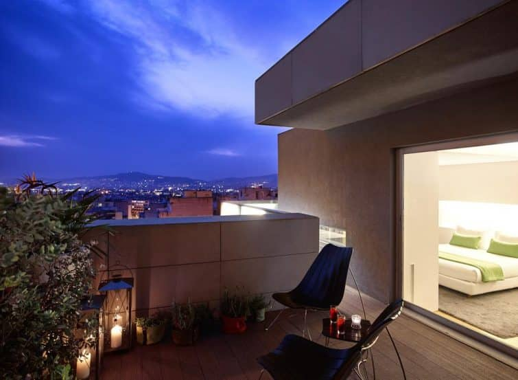 Terrasse chambre, Hôtel Fresh, Athènes