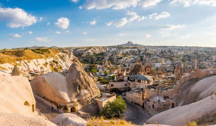Maisons, musée à ciel ouvert de Gorëme, Cappadoce, Turquie