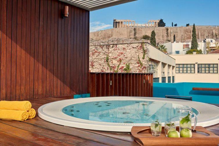 Jacuzzi à l'hôtel Herodion, Athènes