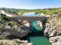 Vue aérienne du Pont du Diable