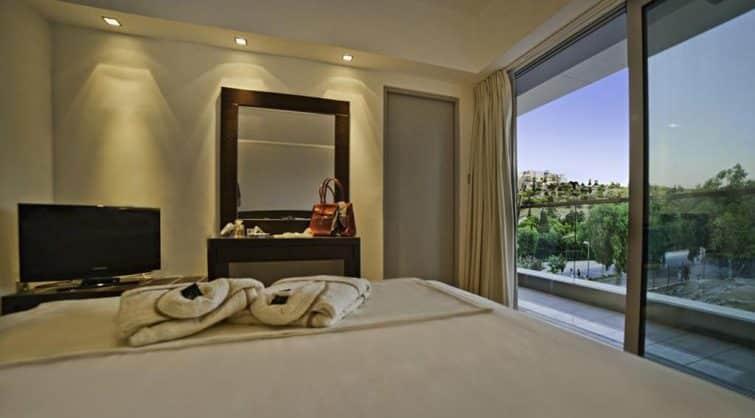 Chambre avec vue à l'hôtel Thissio, Ahtènes