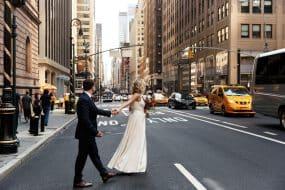 Couple de mariés à New York