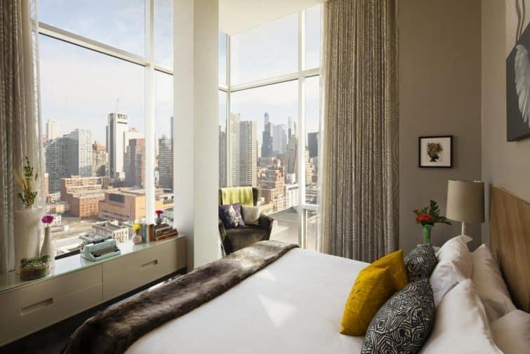 Chambre avec vue au Kimpton Hotel, New York