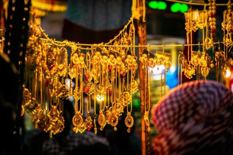 Stand au marché Laad Bazar, Hyderabad
