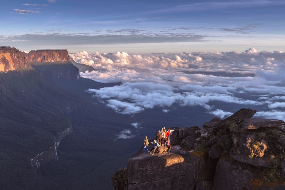 Groupe de touriste au sommet du mont Roraima