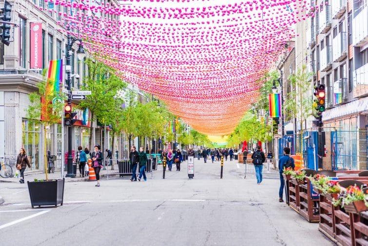 Rue Sainte-Catherine dans Le Village
