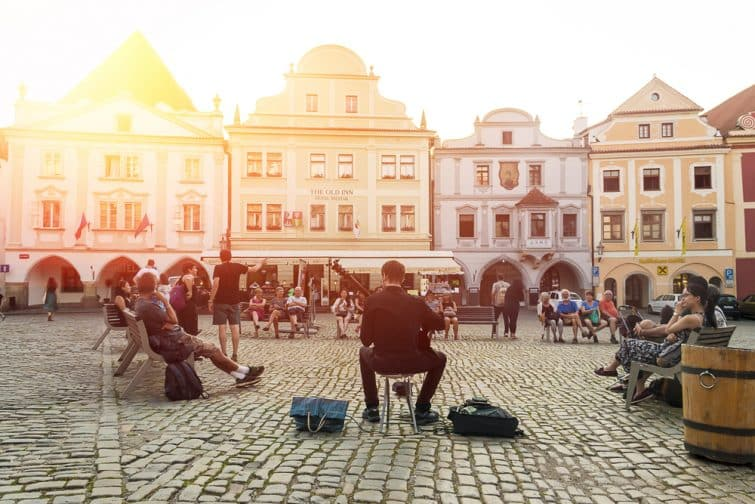 Street music à Cesky Krumlov
