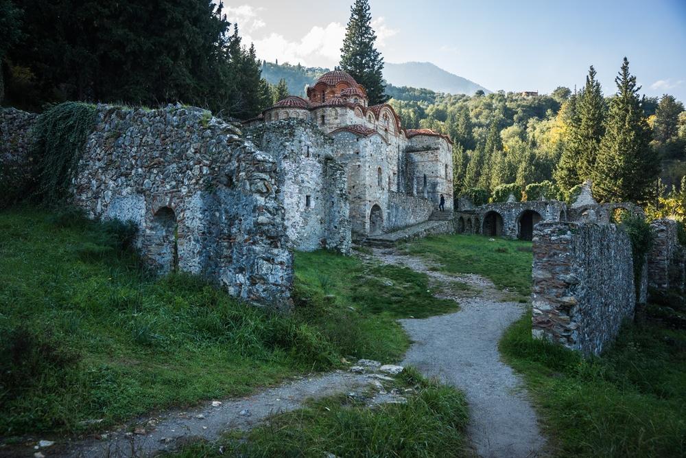 Village et château abandonné de Mystra, Grèce